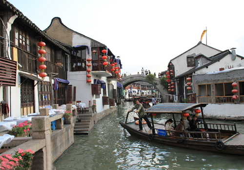Zhujiajiao Ancient Town is famous as Shanghai's Venice.