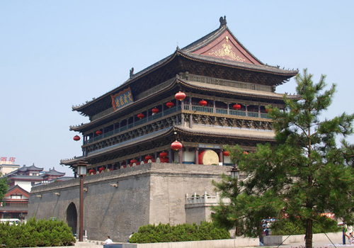 The Drum Tower of Xi'an is the biggest ancient drum tower in China.