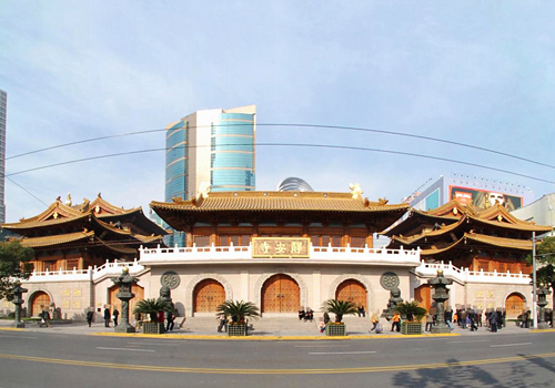 Jing'an Temple is a famous Esoteric Buddhist temple in the city of Shanghai.