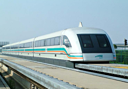 The working principle of maglev train is the utilizing of the attractive force and repulsive force.