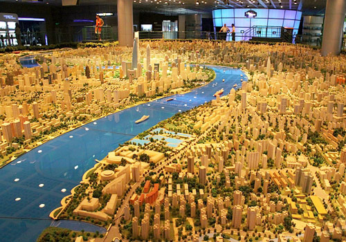 Shanghai Urban Planning Exhibition Center is the first kind in China showcasing a city's development.