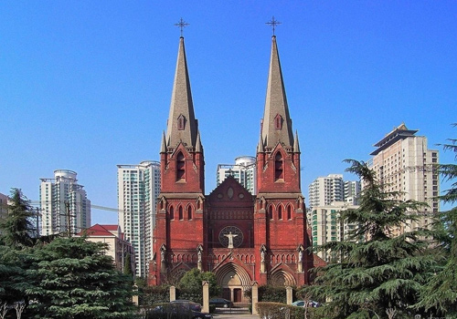 Saint Ignatius Cathedral in former concession,Shanghai