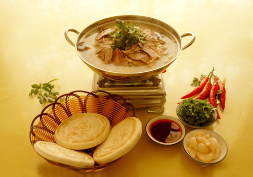 Flavoured Mutton and Pita Bread in Soup,Xi'an
