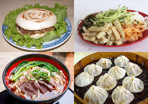 All sorts of delicious food in Huimin Street,Xi'an