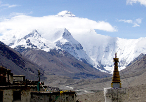 Rongbuk is the site with one of the most views of Mount Everest.