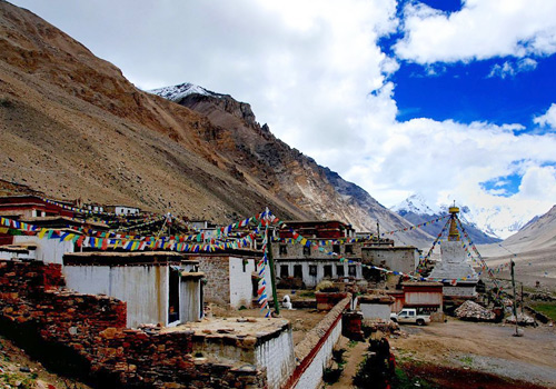 Rongbuk Monastery is the highest religious building in the world.