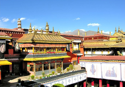 The Jokhang Temple located at center of the old city quarter of Lhasa possesses a supreme status among Tibetan Buddhist temples.