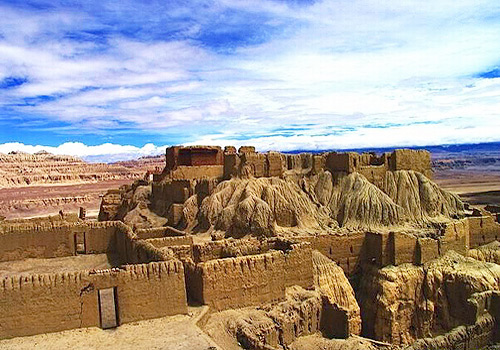 The ruins of ancient Guge Kingdom,Tibet