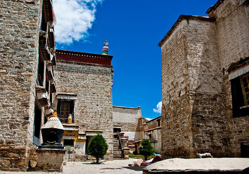 Old buildings of Sera Monastery in Lhasa,Tibet.