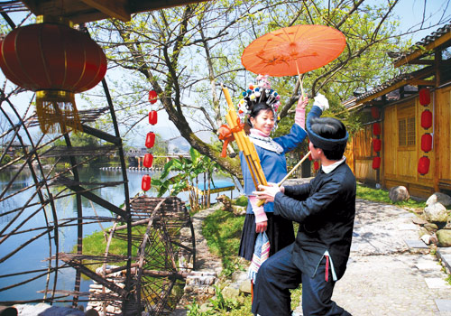 Dong minority is a hospitable and happy group, and their favorite musical instrument is Lusheng.