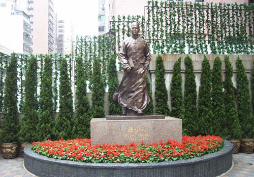 A statue of Dr.Sun Yat-sen in the museum,Hong Kong