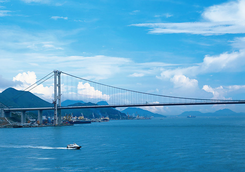 Tsing Ma Bridge is not only a key landmark of Hong Kong but also the longest steel bridge for both vehicles and trains in the world.
