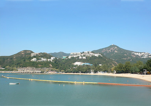 Deep Water Bay of Hong Kong is a bathing beach located in northwest of Repulse Bay and east of Brick Hill.