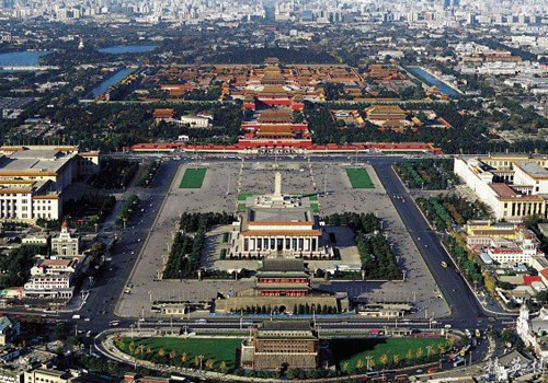 The panorama of the Tian'anmen Square in Beijing