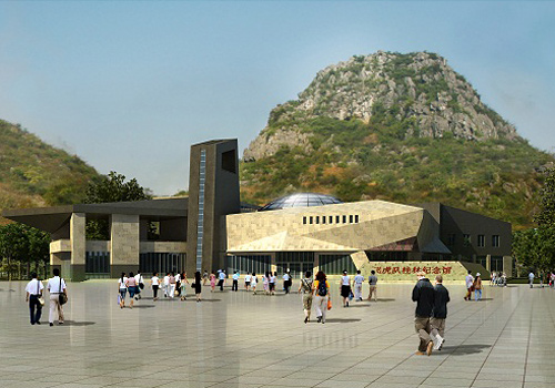 Design drawing of Guilin Flying Tigers Museum.