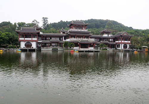 A temple in Mt.Qingxiu,Nanning