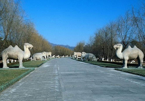 Part of the Sacred Way of the Ming Tombs in Beijing.