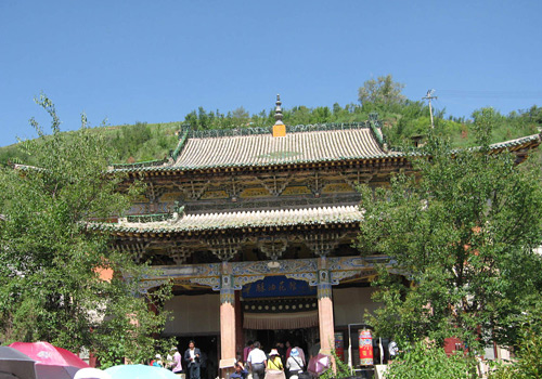 The Butter Sculptures Hall of Ta'er Monastery in Xining City,Qinghai Province.