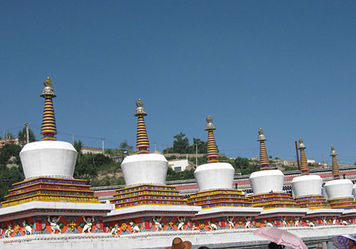 The prayer whees of the Ta'er Monastery in Xining.