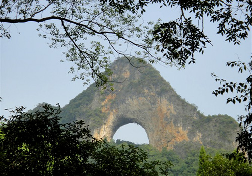 The Moon Hill in Ynagshuo,Guilin.