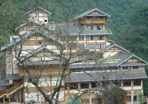 The Center Hotel at Longsheng Hot Springs National Forest Park.