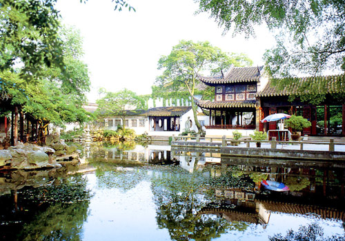 Lingering Garden of Suzhou is one of the Four Best Known Classical Gardens of China.
