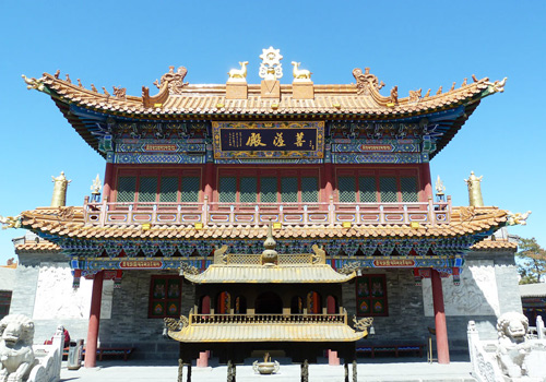 Bodhi Palace in Dazhao Temple,Hohhot