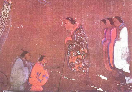 A colorful silk painting of Han Dynasty with high artistic value,Changsha