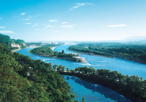 Dujiangyan Irrigation System of Chengdu is the oldest and the only preserved grand irrigation system in the world which is still in service today.