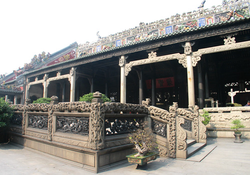 The Ancestral Temple of the Chen Family in Guangzhou is a famous attractions in Guangdong Province.