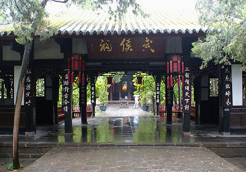 Wuhou Memorial Temple of Chengdu was built to commemorate Liu Bei and Chuko Liang.
