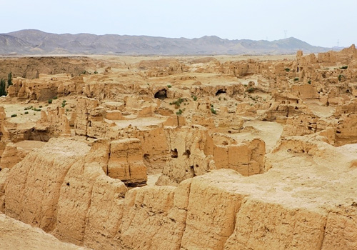 A full view of the Ancient City of Jiaohe,Turpan