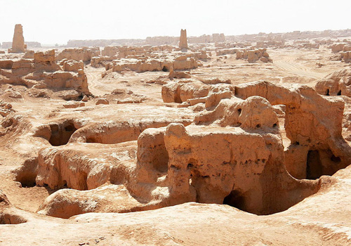 A full view of the Ancient City of Gaochang,Turpan