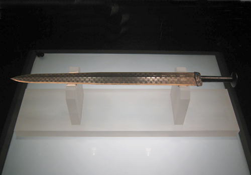 The bronze sword of Goujian,which was made in the late Spring and Autumn Period,Wuhan