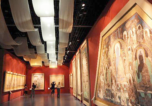 A exhibition hall in Dunhuang Museum,Dunhuang