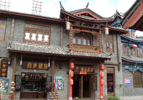 Local houses at Shuhe Ancient Town of Lijiang.