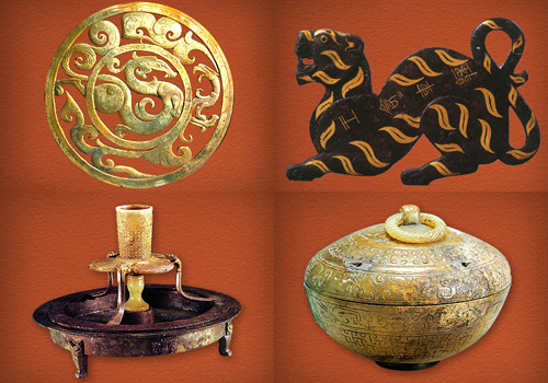 Cultural relics underearthed from the Mausoleum of the Nanyue King in Guangzhou.