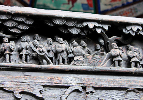 Exquisite ancient carvings on the theatrical stage,Anshun