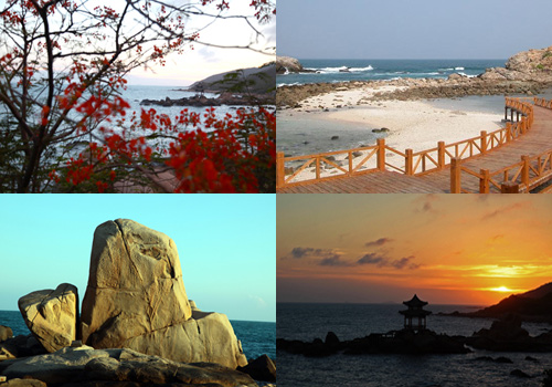 Beautiful scenery of Nanshan, Sanya.