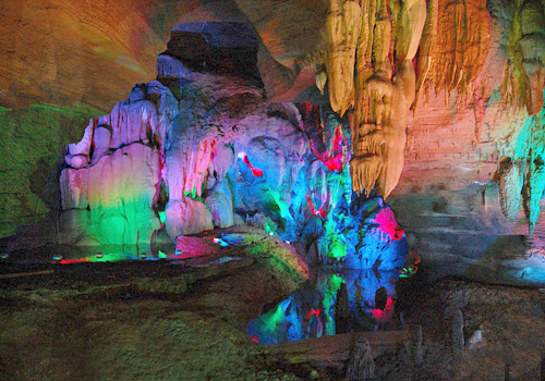 Various karst caves are the features of Tianhe Pool Scenic Area,Guiyang