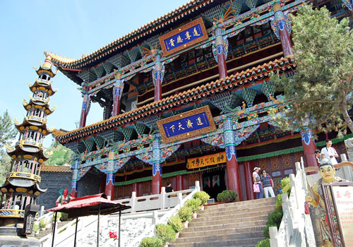 The Wangmu Hall of Northern Buddhist Temple,Xining