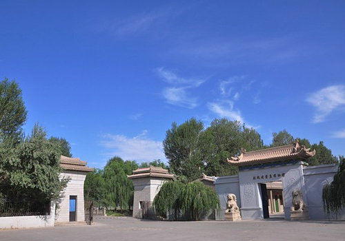 The entrance of the Tombs of Wei and Jin Dynasties,which is a big tomb group with more than 1,000 tombs which were built between the third and fifth century.