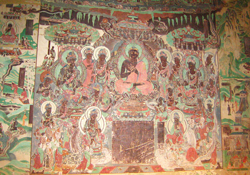 The well preserved murais in Western Thousand-Buddha Cave,Dunhuang