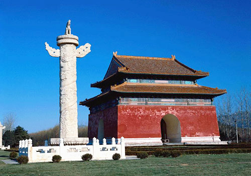The stele pavilion of Chang Mausoleum,Beijing