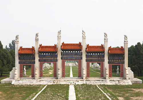 The Memorial Archway of East Qing Tombs,Beijing