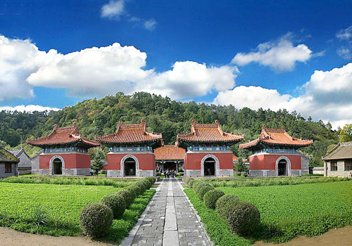The Memorial Pavilion of Qing Yongling Tomb,Liaoning Province