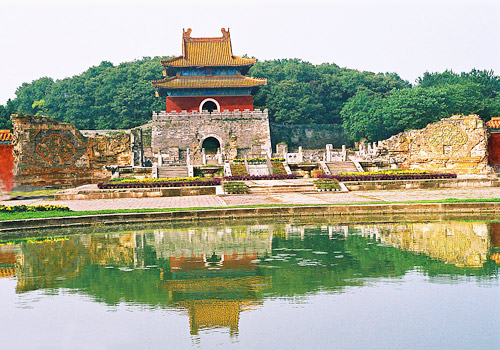 The Ming Xianling Tomb was built in 1519 in Hubei Province.