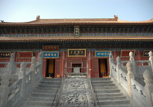 Junji Hall of Zhongyue Temple,Mount Song Scenic Area,Zhengzhou.
