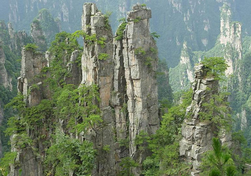 Zhangjiajie National Forest Park is the first national-level forest park of China.