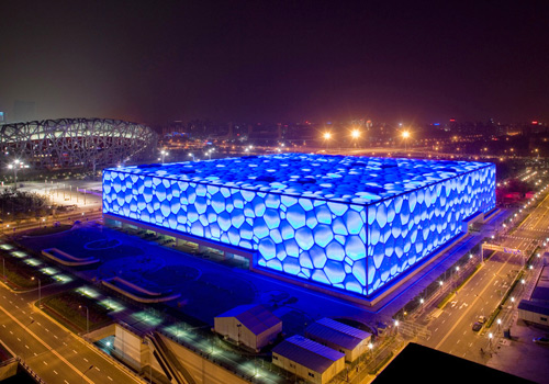 The National Swimming Center, or Water Cube for short, is the major natatorium as well as one of the landmarks of the Beijing 2008 summer Olympic Games.